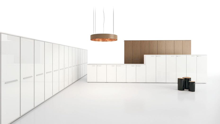Armadio Ufficio Bianco : Armadi in legno melaminico per l ufficio moderno compra online adesso