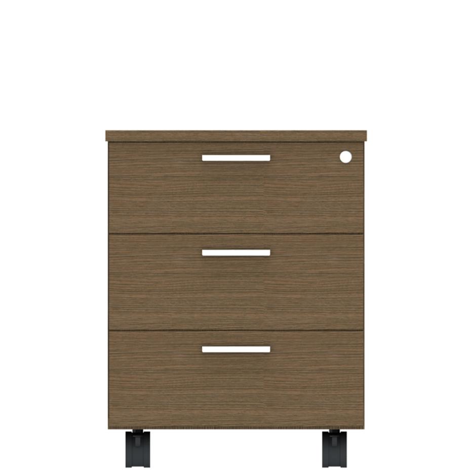 Cassettiera per ufficio in legno melaminico di della for Cassettiere design per ufficio